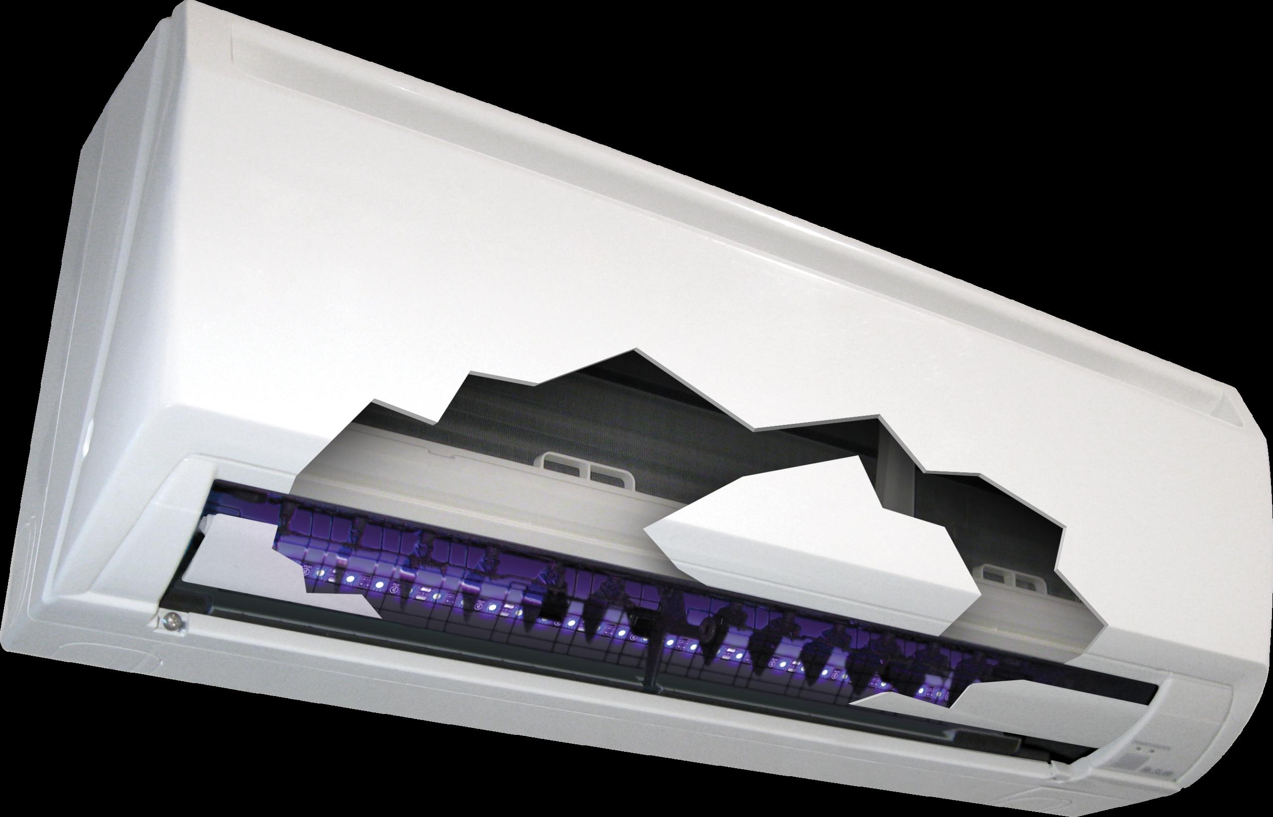 Mini UV LED in mini-split
