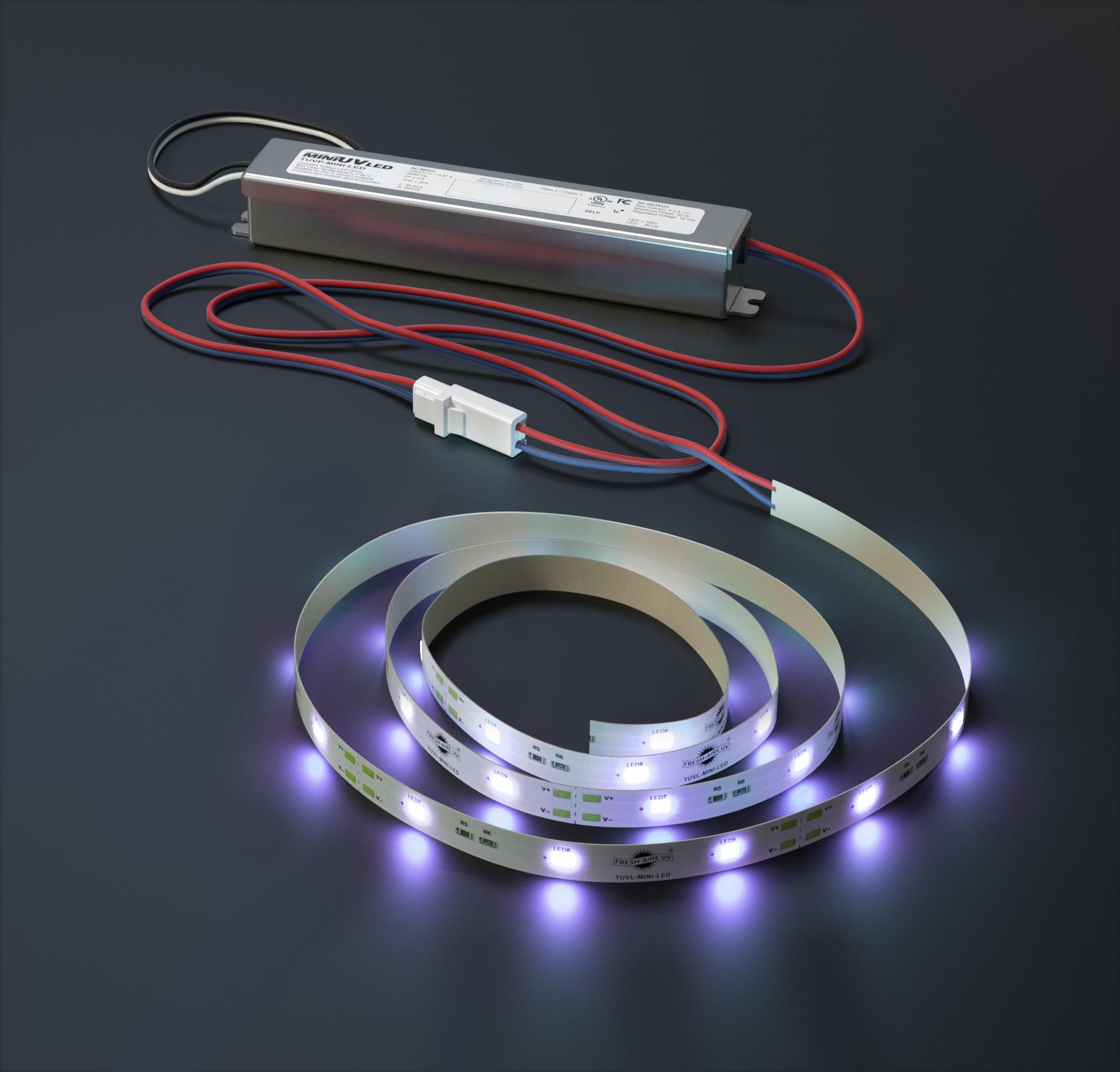 Mini UV LED on bg